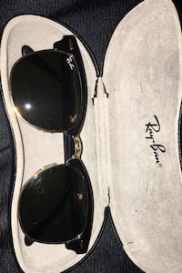 Rayban black and gold clubmaster sunglasses