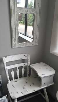 white wooden vanity table with mirror Richmond Hill, L4B