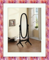 Black swivel oval mirror Gaithersburg