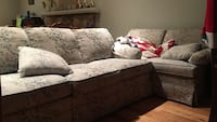 white and green floral sofa set