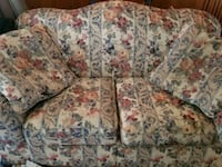 Flowered sofa and love seat