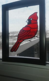 Cardinals one is stained plastic & other glass Gatineau, J8Z 1T7