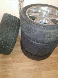 All four black  wheel with tires trade for 20inch Houma, 70360