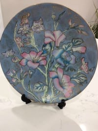 Blue Floral Decor Plate