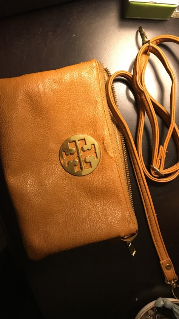 b52264bbb0c9 Used brown Tory Burch leather sling bag for sale in Sanford - letgo