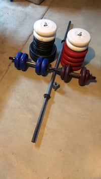 Weights-includes 2 dumbbell bars and 1 barbell. Total weight is 280 lbs Silver Spring, 20902