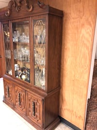 Brown wooden framed glass display cabinet Taunton, 02780
