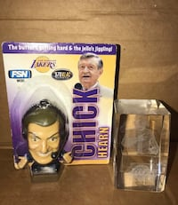 Chick Hearn key chain  Los Angeles, 90008