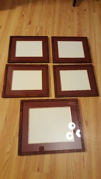 BEAUTIFUL Distressed Wood Matted Picture Frames 5