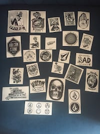 Lot de 24 stickers / autocollants  Volcom Neuf Freneuse, 78840