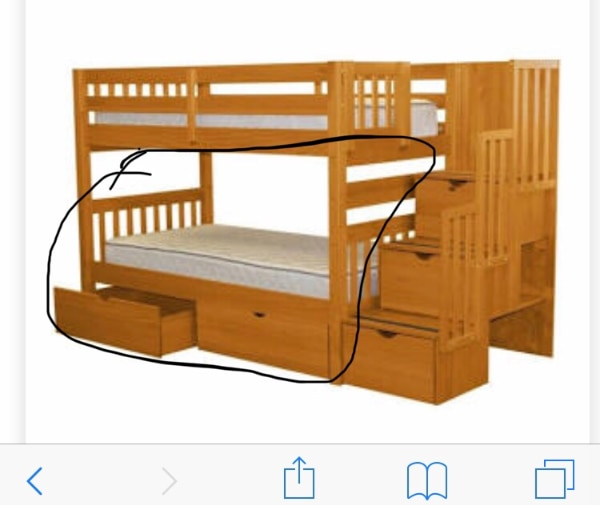 Used Twin size bed. Mattress not included for sale in ...