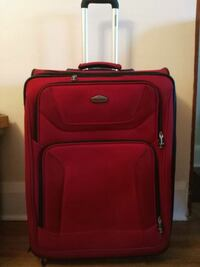 Suitcase, large, red, 2 separate compartments, on Toronto, M4L 1G7