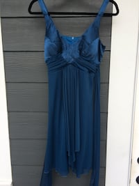 women's blue satin dress Prince George, V2M 7C6