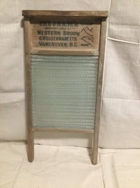 Antique glass washboard