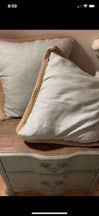 Pottery Barn Feather Fill Plush Throw Pillows x 2 *New Price*