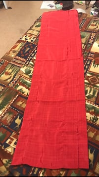 """Red Valance. New! 5ft x 15"""""""
