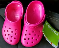 Pair of kids pink Crocs rubber clogs - Sz 11 Silver Spring, 20904