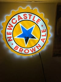newcastle lit / lighted beer sign South River, 08882
