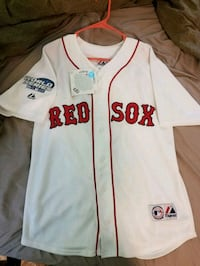 2004 World Series Red Sox Jersey #5  Nassau, 12123