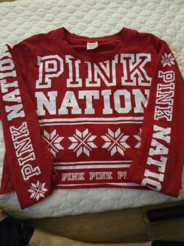 9dc3fd1d079 Used red and white Pink by Victoria's Secret sweater for sale in ...