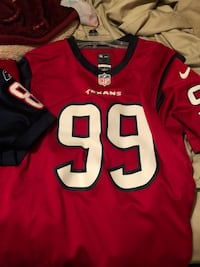 red and black NFL Houston Texans #99 Nike jersey