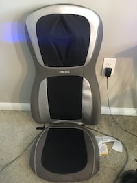 Homedics leather massage chair. Barely used  Alexandria, 22304