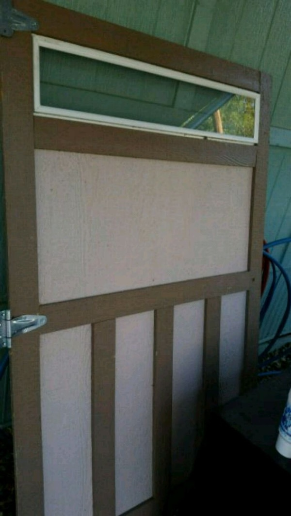 Used Custom Built Tuff Shed Door with window  for sale in
