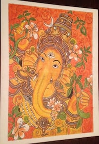 Hand painted mural art of lord Ganesha Ann Arbor, 48103