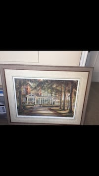 brown wooden framed painting of house London, N6P 1E5