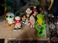 animal plush toy lot