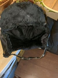 leather and fur snow hat