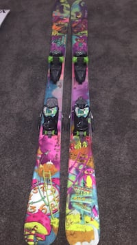 Nordica ace of spades twin tip skis in good condition  Edmonton, T6C 0A9