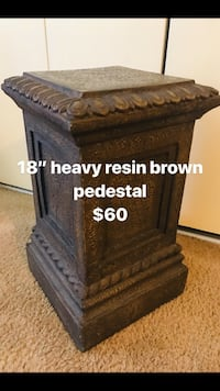 """18"""" heavy resin brown pedestal click on my profile for more listings pick up in Gaithersburg md20877 Gaithersburg"""