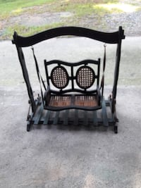 old antique mini decor swing with cane seat 650 mi