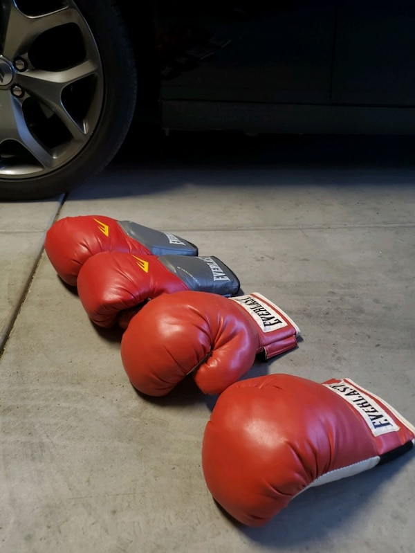 Punching bag with 2 pairs of gloves  43a4d699-f348-4c6a-8fd1-cdb82b55dfec