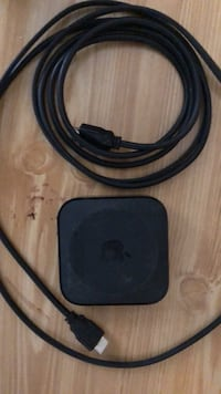 Black apple tv with remote Palm Bay, 32905