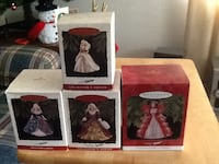 Four assorted Barbie Christmas ornaments Saint Charles, 63301