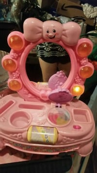 baby's pink and white activity center Hamilton