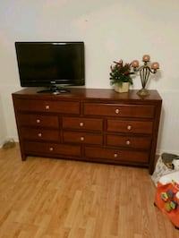 flat screen TV and brown wooden dresser Vaughan, L4H 1L2