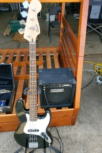 Fender Squier Bass Guitar and amp
