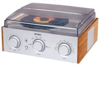 JENSEN Record Player 3Speed Turntable with AM/FM Radio Stereo Speakers New York, 11377