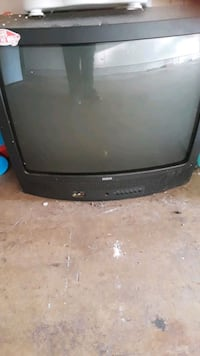 black CRT TV with remote Mustang, 73064