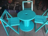 Folding chairs , Spool table  Henderson
