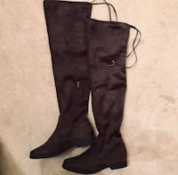 Thigh High Dark Grey Boots Vaughan