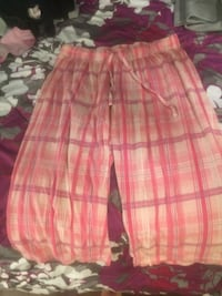 Pink and white plaid pant Hamilton, L8L
