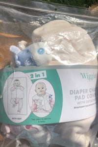Diaper changing pad cover set