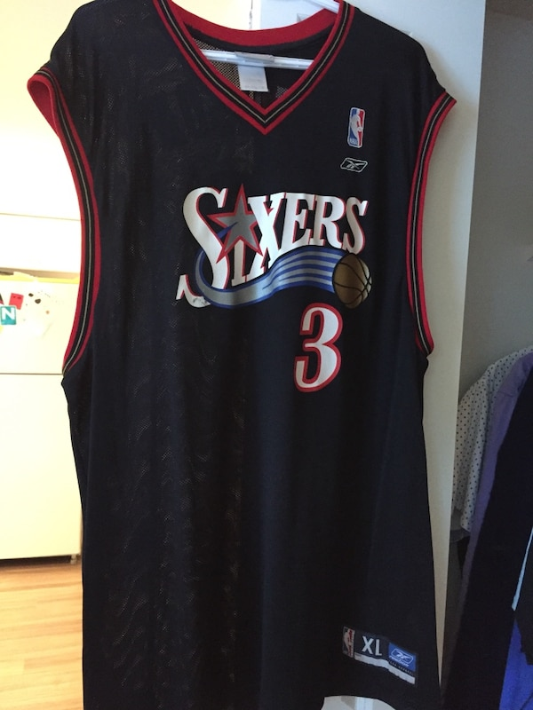 91ce6a4db9cf Used Allen Iverson sixers jersey for sale - letgo