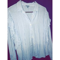 white and blue striped dress shirt Elgin, 29045