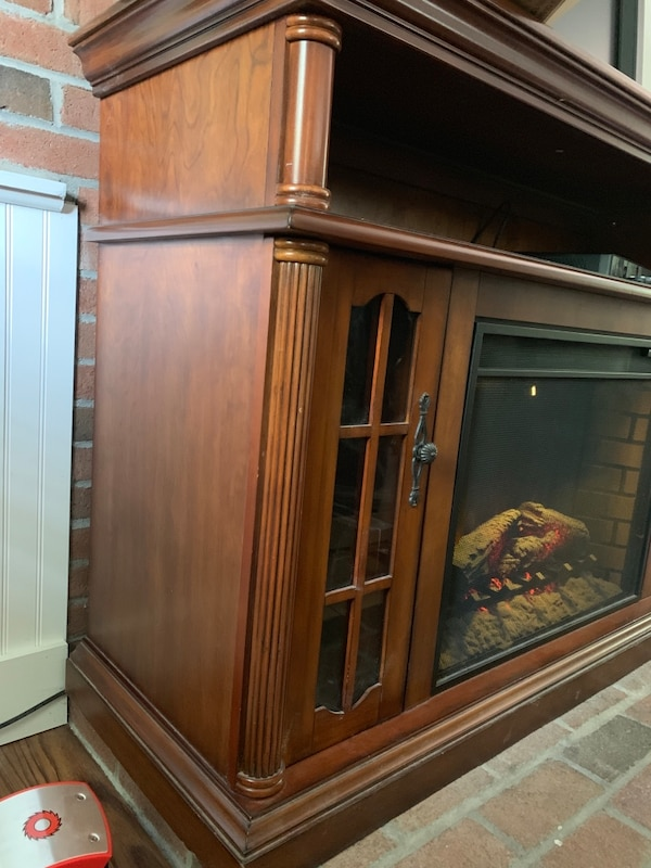 Sold Allen Roth Electric Fireplace And Mantel In Millbury Letgo