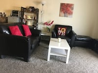 black wooden coffee table and two side tables IRVINE